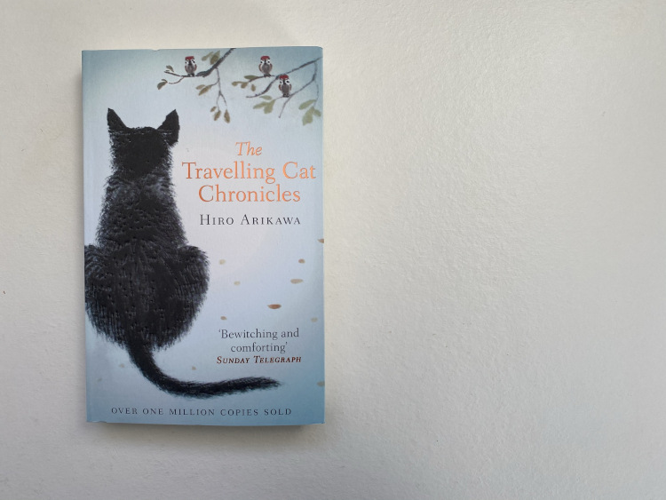 The Travelling Cat Chronicles book on a white table